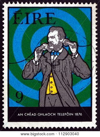 Postage Stamp Ireland 1976 Bell Making First Call
