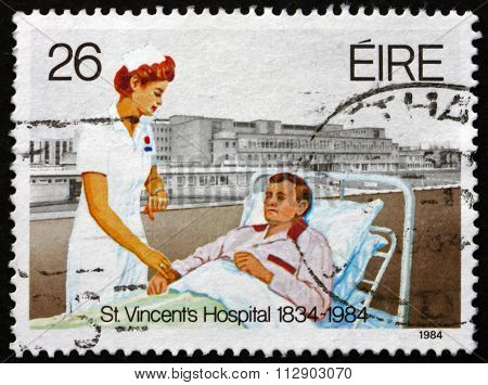 Postage Stamp Ireland 1984 Nurse And Patient
