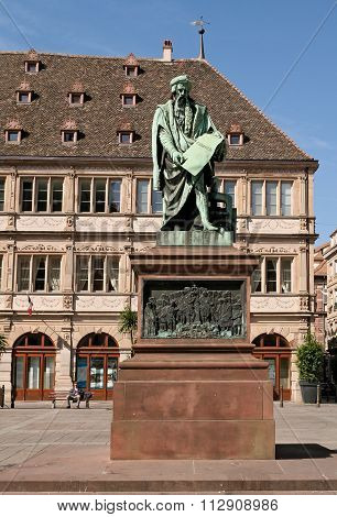 Gutenberg monument Strasbourg, France