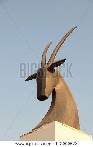 Oryx Monument In Doha, Qatar