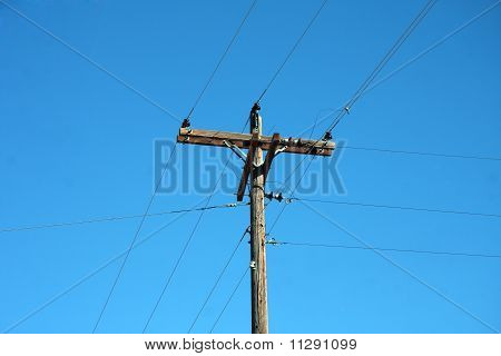 Phone Pole With Wire
