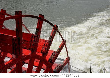 Paddleboat wheel