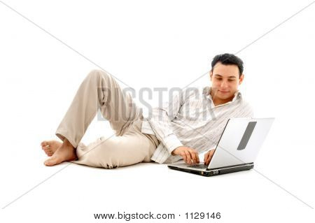 Relaxed Man With Laptop