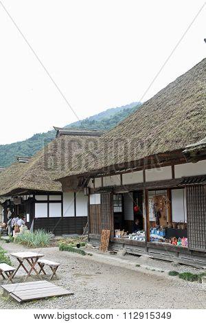 Ouchi juku (post town) in Fukushima Japan