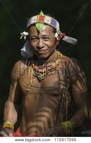 Portrait Of Teo Tak Gogo, 55, The Indigenous Inhabitants Ethnic.