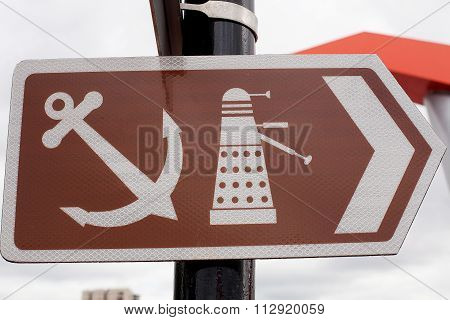 Tourist Sign Cardiff