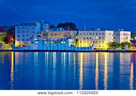 City Of Zadar Harbor Blue Evening