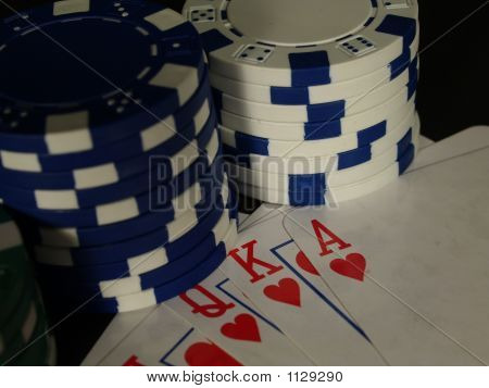Pokercards And Chips