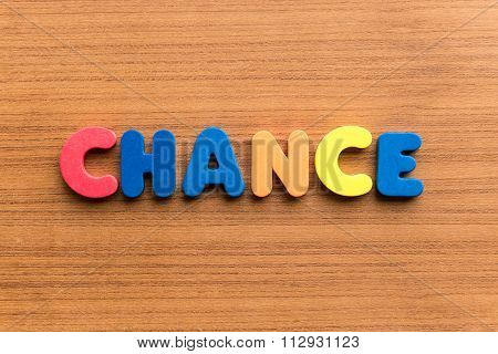 Chance Colorful Word