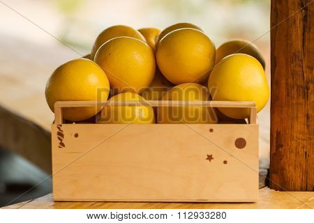 Lug-box Of Grapefruits
