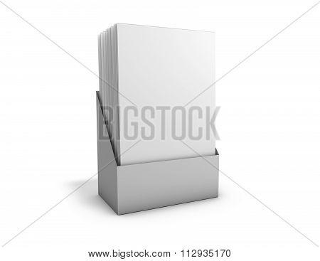 Leaflet Box Holder With Blank Leaflets.
