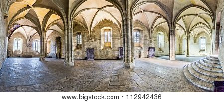 Cross Arch Room In The Papal Palace In Avignon