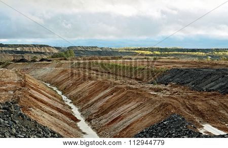 View Of The Coal Mine In The Early Autumn