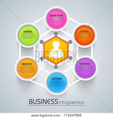 Creative colorful Infographic layout for Business concept.
