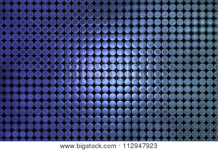 Illustration of a grid of Metallic Blue Discs Background