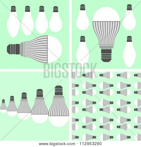 Led Lighting And Conventional Lamps
