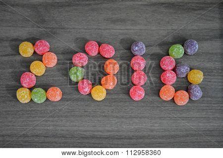 Ano novo doce e colorido.