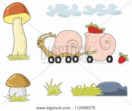 Auger Truck And Mushrooms