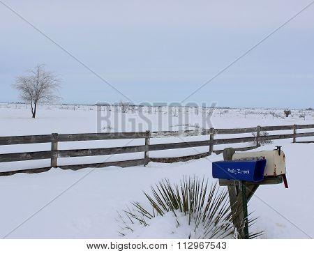 Rural snow fall