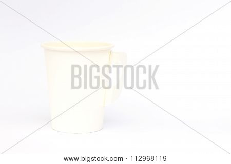 Take-out Coffee Cup Isolated On White Background