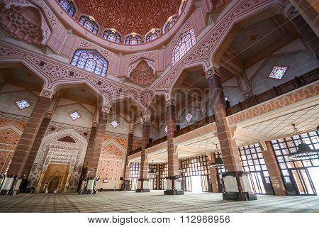 Inside Of Putra Mosque, Putrajaya