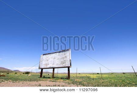 Blank bill board