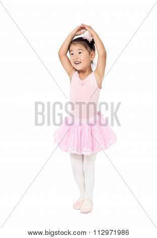 Asian little girl ballerina