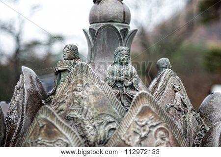 statue of Sinheungsa Temple in Seoraksan National Park, Sokcho, South Korea