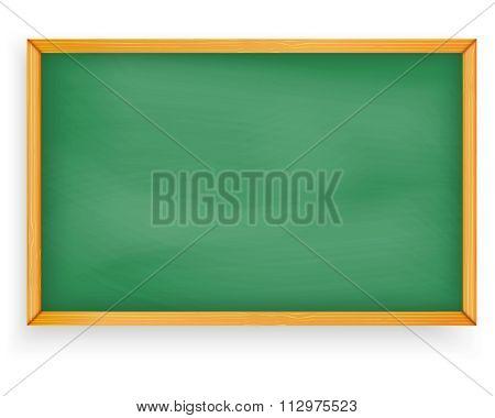 School Chalkboard (blackboard) Illustration Isolated On White