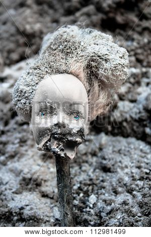 Beheaded Girl Doll With Scary Melted Face