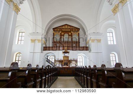 Inside Of The Reformed Great Church Of Debrecen