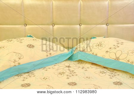 Pillows and bed