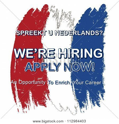Jobs for people who speak Dutch
