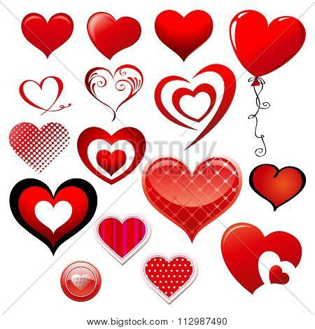 Vector Valentine Lovely Heart Illustration