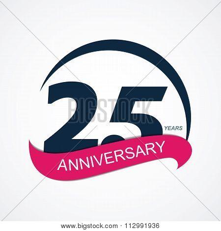 Template Logo 25 Anniversary Vector Illustration
