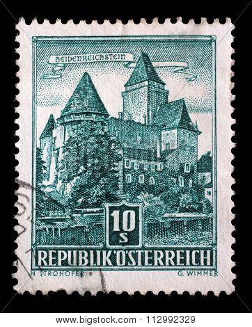 AUSTRIA - CIRCA 1957: stamp printed by Austria, shows Heidenreichstein Castle, circa 1957