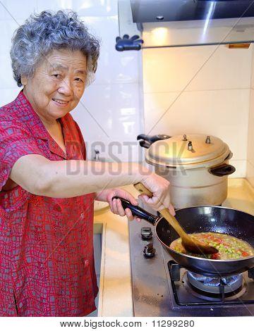 Kochen Großmutter
