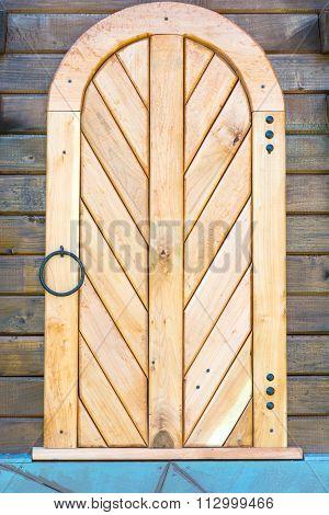 Old Wooden Door. Decoration.