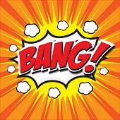 BANG! wording sound effect set design for comic background, comic strip poster
