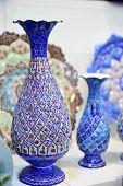Mina Minakari Handicraft made in Esfahan Naqshe Jahan Square Iran poster