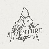 Vintage Illustration - Let The Adventure Begin poster