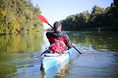 Kayaking the Colorado River (Between Lees Ferry and Glen Canyon Dam). poster