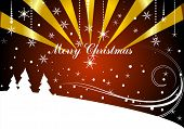 xmas greeting card -background vector illustration in abstract style poster