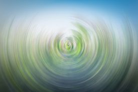 Abstract Spin Blur Background Of Green Field
