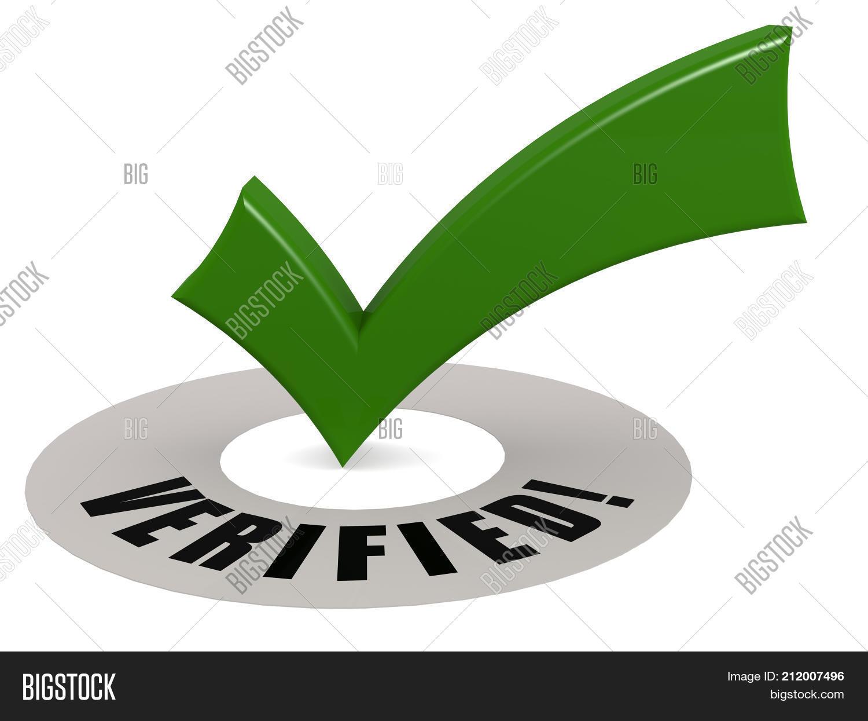 Verified Word Green Image Photo Free Trial Bigstock