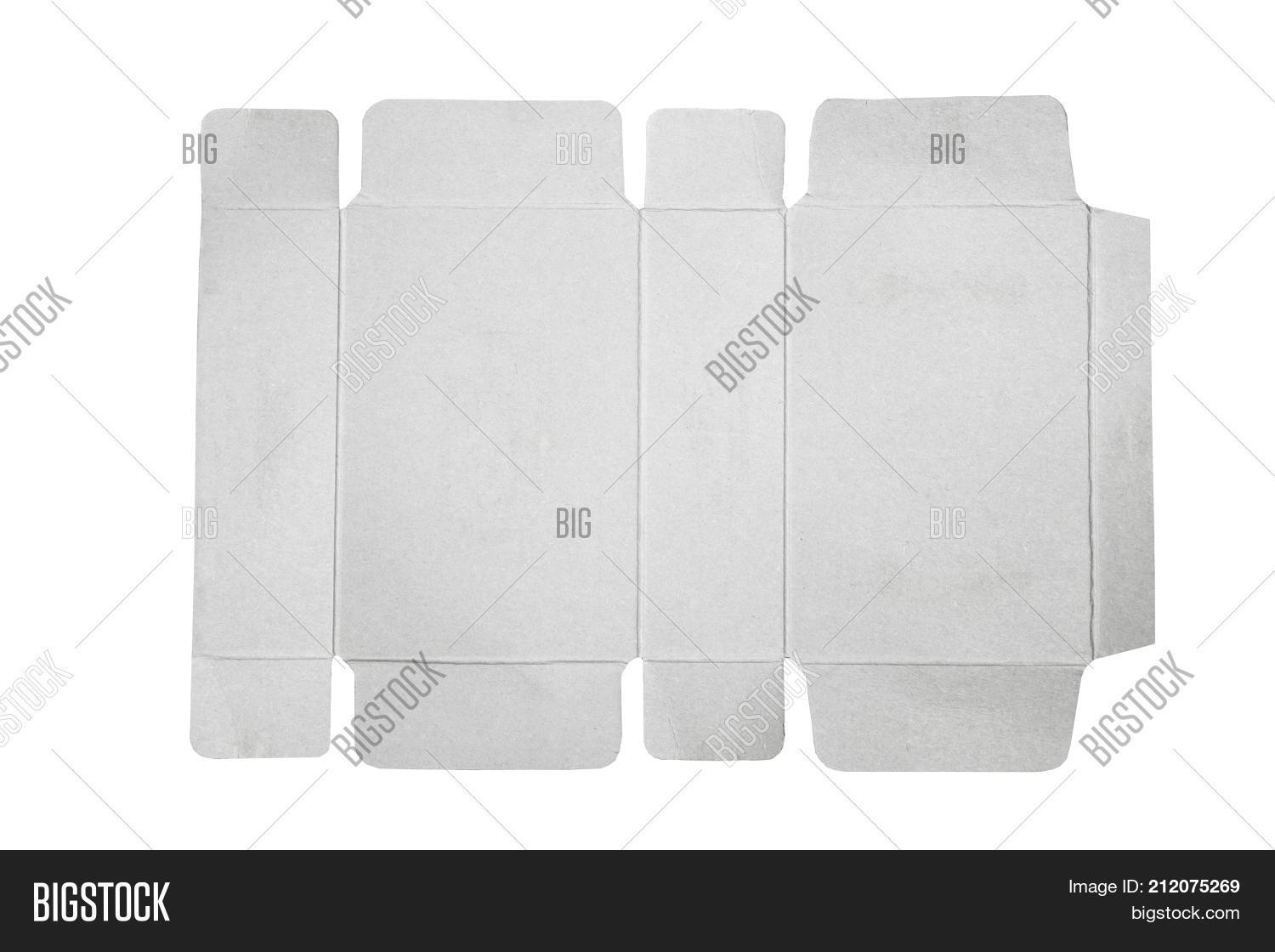Mockup blueprint template paper box image photo bigstock mockup blueprint template of paper box packaging old cardboard with die cut pattern malvernweather Choice Image