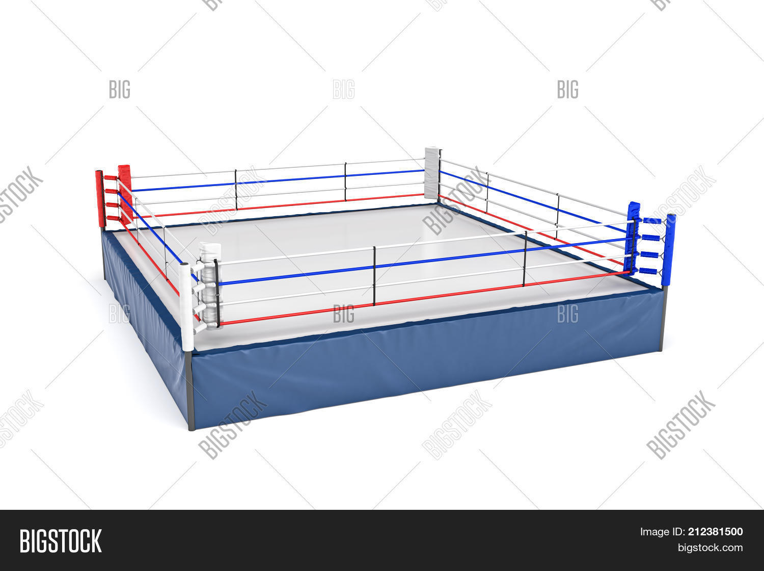 3d rendering empty image photo free trial bigstock 3d rendering of an empty boxing ring in side view to its corner isolated on white ccuart Images