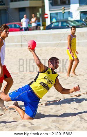 Match Of The 19Th League Of Beach Handball, Cadiz
