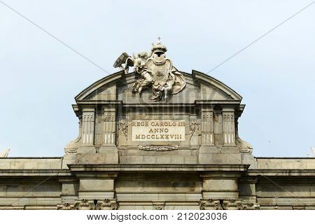 Puerta de Alcala (Alcala Gate) is a Neo-classical monument by Carlos III in the Plaza de la Independencia (Independent Square) in Madrid, Spain.