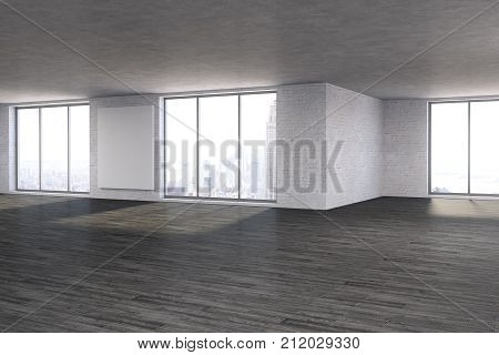 Modern Room With Empty Poster